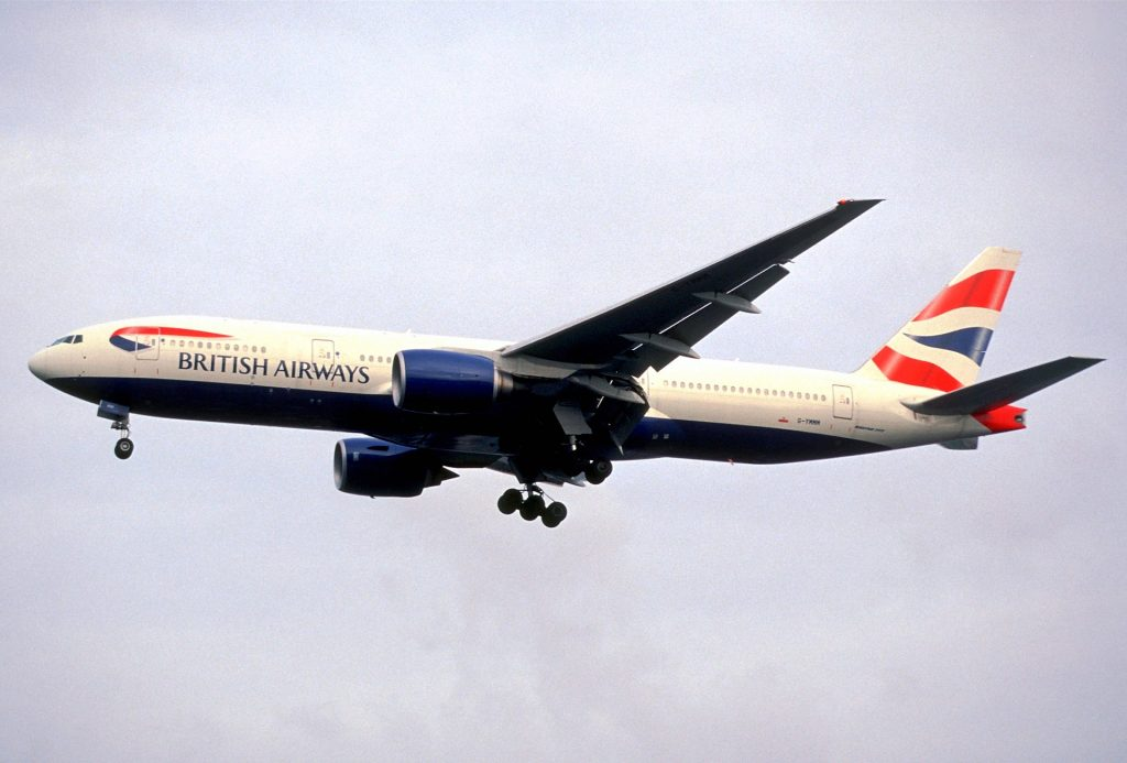 Самолет British Airways Boeing_777-236ER