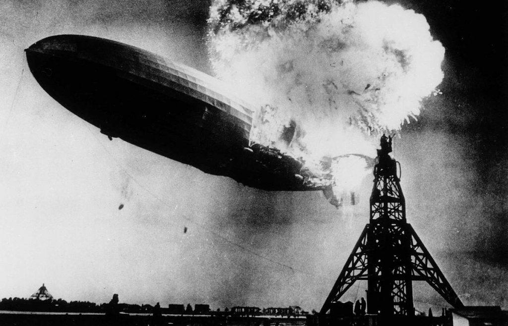 Дирижабль Гинденбург крушение