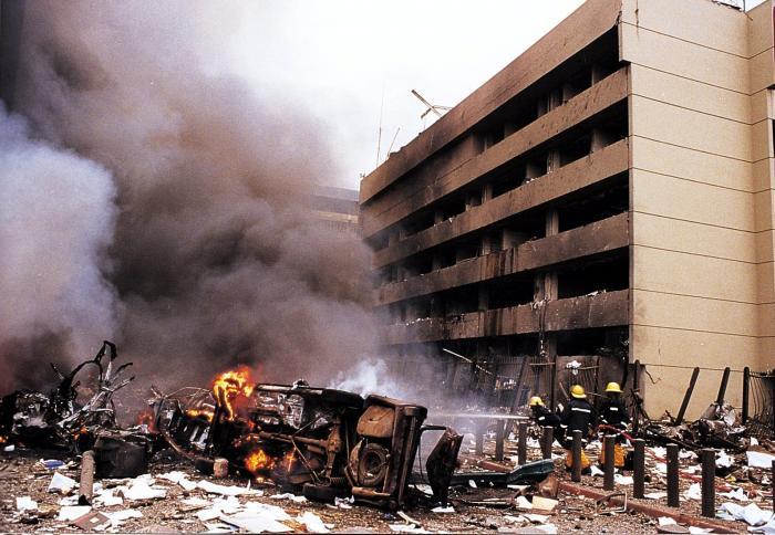 результат взрыва посольства сша